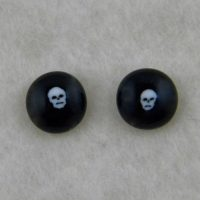 Handmade Fused Glass Skull Earrings - with a skull murrine