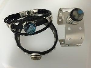 18 mm fused glass snap bracelet findings