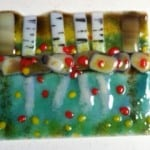 Fused Glass Tree and lake