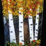 Fused Glass Aspens