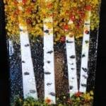 Fused Glass Fall Aspen Panel