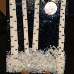 Fused Glass Fall and Winter Aspens