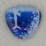 Shades of Blue Mermaid Fused Glass Pendant