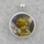 Small Pendant with Fairy Ceramic Decal