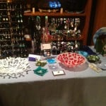 Fused Glass Home Show, earrings, bracelets, bowls, platters, and artwork
