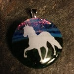 Horse Fused Glass Pendant