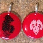 Fused Glass Aries (Zodiac)