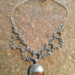 Fused Glass and Chainmaille necklaces
