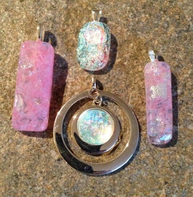 Fused Glass Faux Diamond