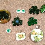 St Patrick's Day and Easter fused glass pendants