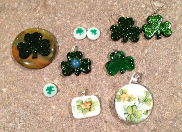St Patrick's Day Fused Glass