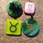 Fused Glass Taurus (Zodiac)