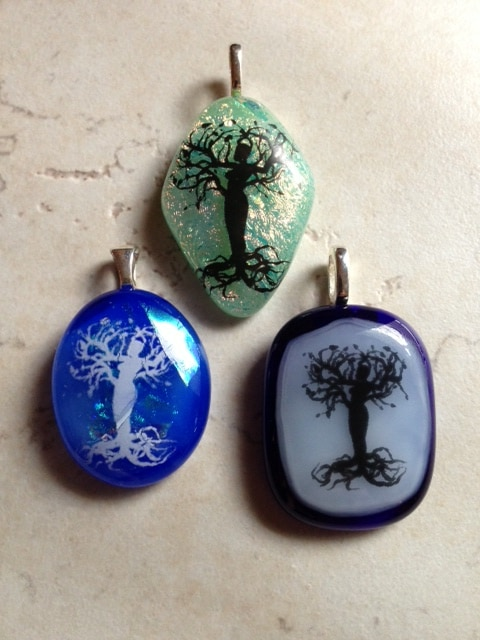 Fused Glass Women Pendants