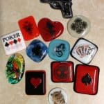 Fused Glass Poker Card Guards