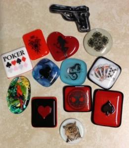 Fused Glass Poker Card Guard