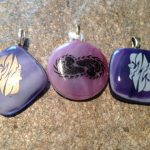 Fused Glass Gemini (Zodiac) pendants
