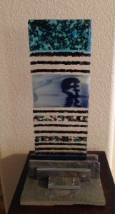 Fused Glass Pebble Tower - From Class