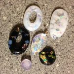 Fused Glass October Birthstones – Opal