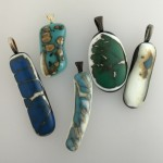 fused glass turquoise