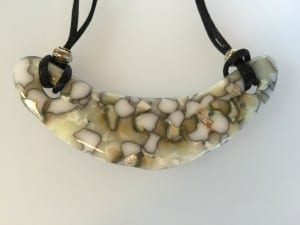 Fused Glass Bib Necklace