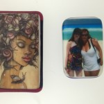 Color pictures on fused glass
