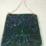 fused glass garden art