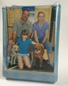 Fused Glass Picture frame