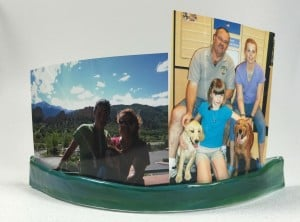 Fused Glass Picture holder