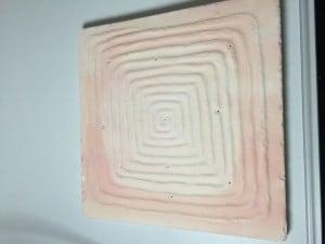 A handmade texture mold created by Paul