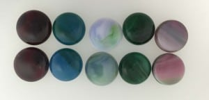 Art Glass - fused glass snap pebbles