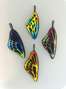 Fused Glass dichroic butterfly wings