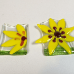 Fused Glass Sunflower night lights – December Fresh from the Kiln