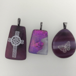 Fused Glass Cremation Jewelry