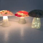 Fused Glass Mushroom lights