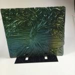 Iridized Textured Fused Glass Art
