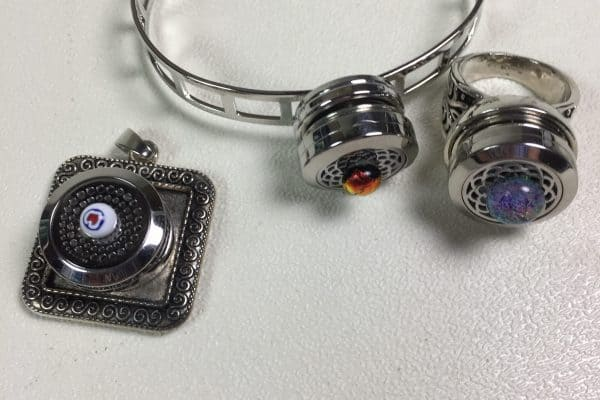Fused Glass Essential Oil jewelry