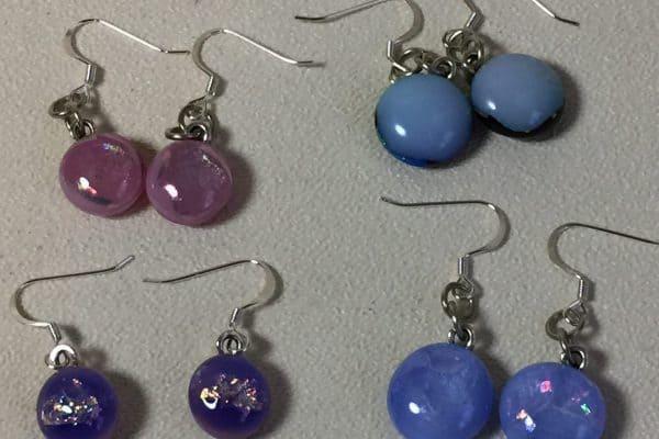 Finishing Fused Glass Earrings