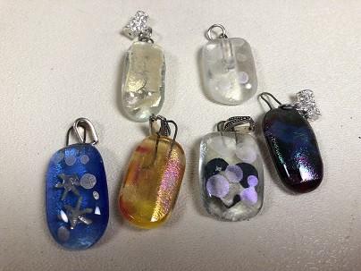 Fused Glass Bead Pendants