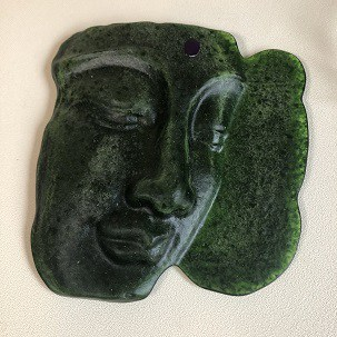 So is my fused glass Buddha Male or Female?