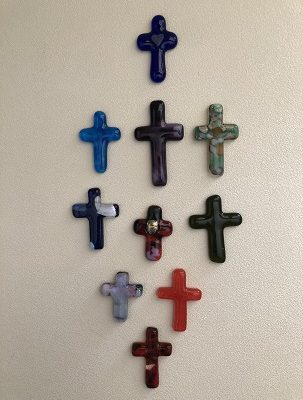 Fused Glass Crosses for my Family