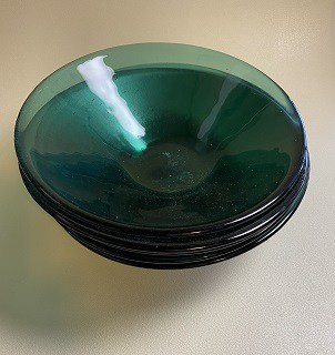 Fused Glass Sea Green Bowls