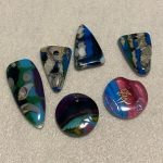 Drilled Fused Glass Pendants