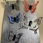 Silk Screened Glass Butterflies