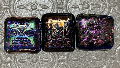 Silk Screened Fused Glass Jewelry