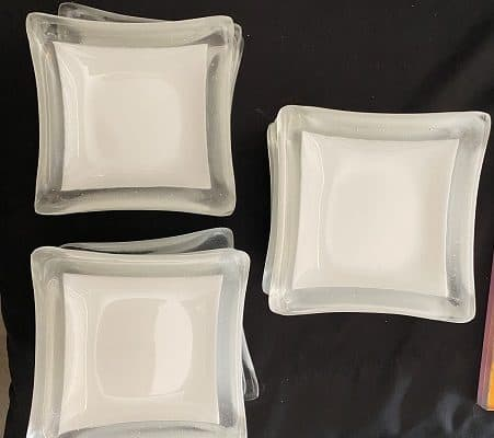 Fused Glass Commercial Soap Dishes