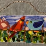Fusing with Coral – Birds on a   Fence