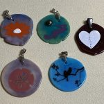 Silk Screened Pressed Pendants