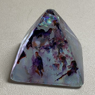 Fused Glass Pyramid