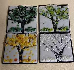 Fused Glass Trees