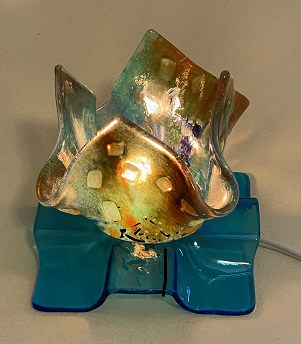 Fused Glass Votive Lights